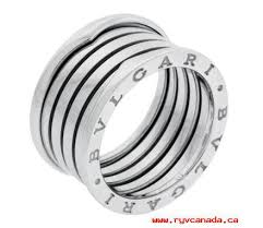 bvlgari rings online images Women 39 s bvlgari silver women 39 s or mens b zero1 4 band in 18k white jpg