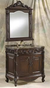36 Inch Bathroom Vanity With Drawers 36 Inch Brown Cherry Single Bath Vanity And Mirror