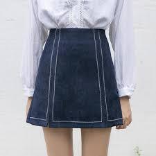 new 2017 front split skirt korean style slim a high waist skirt