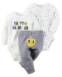 hanukkah baby 3 hanukkah bodysuits pant set carters