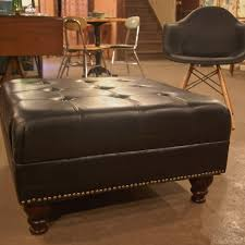 Leather Ottoman Coffee Table Rectangle Rectangular Leather Ottoman Coffee Table Buildsimplehome