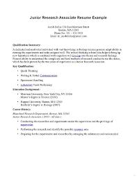 a simple resume exle associates degree resume junior research associate exle simple