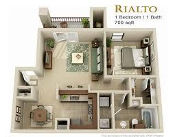 1 Bedroom Cottage Floor Plans 10 Fabulous One Bedroom Apartment Floor Plans 3d Crew S1 Studio 1