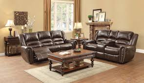 Recliners Sofa Sets Sofa Espresso Bonded Leather Reclining Sofa Loveseat Set