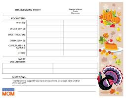 thanksgiving dinner sign up sheet template festival collections