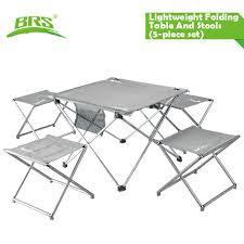 aluminum portable picnic table brs t05 aluminum portable cing picnic table stool set largest