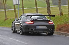 new porsche 911 gt3 rs porsche 911 gt2 rs test mule in gt3 rs body new spy shots gtspirit
