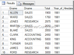 sql server select into temp table