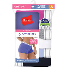 halloween underwear hanes women u0027s sporty cotton boyshort panties 6 pack walmart com