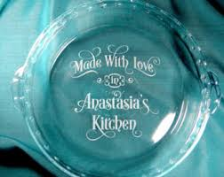 personalized pie plate personalized monogram glass pie plate pie pan