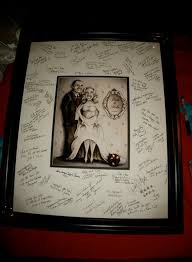 wedding signing frame wedding gifts illustrated portraitspersonalized guest signature