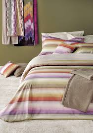 Missoni Duvet Cover Missoni Plinio Color 159 Orange Purple U0026 Green Striped Duvet