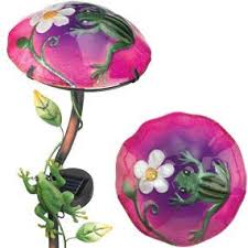 solar frog light regal gift solar stake frog garden