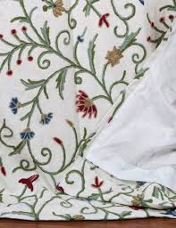 techmal crewel curtain panels and drapes hand embroidered cotton