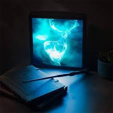 harry potter patronus 3d lightbox thinkgeek