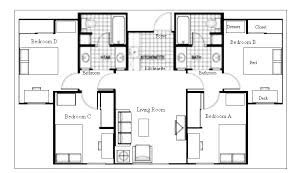 Multi Family Apartment Floor Plans Dorm Suite House Plans Multi Family Pinterest Dorm