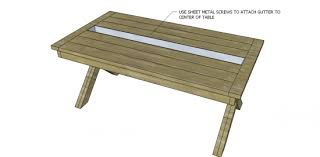 Free Diy Outdoor Furniture Plans by Free Diy Furniture Plans To Build A Rustic Outdoor Table With