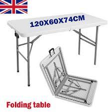 Homebase Patio 4ft Outdoor Patio Picnic Folding Table Furniture Portable Camp
