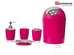 Black And Purple Bathroom Sets 5pc Bathroom Accessory Set Black Pink Blue White Orange