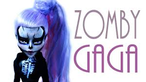 monster high halloween dolls zomby gaga doll repaint monster high youtube