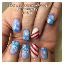 dipping powder nails christmas nail art snowflake nail art