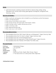 Study Abroad Resume Sample by Resume Sample For Freshers