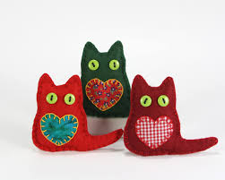 cat christmas ornaments felt christmas ornaments christmas