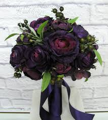 ranunculus bouquet purple ranunculus wedding bouquet in bloom