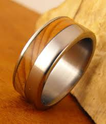 wood rings wedding titanium ring titanium and wood ring cedar of lebanon ring wood