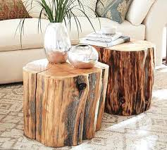 side table wood stump side tables wood trunk coffee tables tree