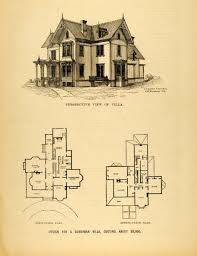 floor plan with perspective house baby nursery victorian house plans print victorian villa house
