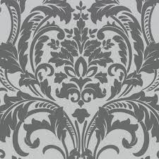 Silver Metallic Wallpaper by Non Woven Wallpaper P S Artemis Wallpaper 13233 20 1323320 Baroque