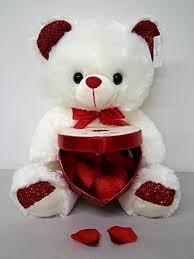 big valentines day teddy bears big 15 ivory s soft teddy plush holding
