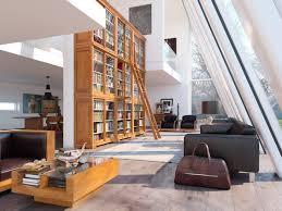 living room black leather modern sofa large brown wood