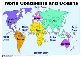 the physical world continents and oceans worksheet worksheets