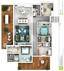 architectural 3d floor plan top stock photo image 45834395