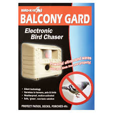 Scare Birds Away From Patio by Bird X Electronic Bird Chaser Balcony Gard Walmart Com