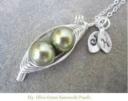 two peas in a pod jewelry two sweet peas in a pod necklace or 3 or 4 peas by alovellydesign