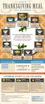 thanksgiving meal in calories daily infographic
