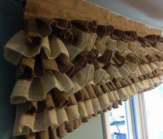 Ruffled Kitchen Curtains Burlap Curtain Burlap Valance Burlap Curtains Curtains Valance