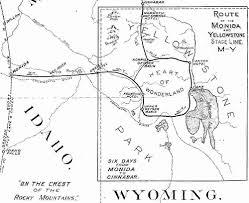 Yellowstone Lodging Map West Yellowstone Montana Yellowstone U0027s Union Pacific Entrance
