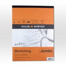 daler rowney arteco jumbo sketching pad ken bromley art supplies
