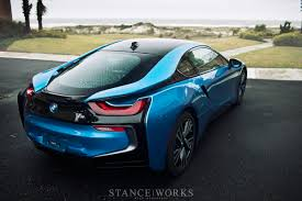 black and teal car protonic blue bmw i8 poses for breathtaking shots autoevolution