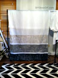 Horizontal Stripe Curtains How To Paint Horizontal Striped Curtain Panelsdiy Show Off U2013 Diy