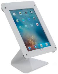 ipad air wall mount with clear acrylic enclosure optional home ipad pro counter stand cc reader compatible lockable white