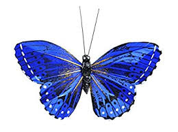 amazon com touch of nature 20484 3 75 inch blue monarch butterfly