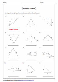 naming triangles worksheet triangle classification based on sides math measurement geometry