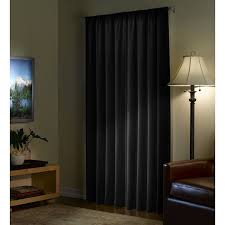 Single Blackout Curtain Amazon Com Maytex Velvet Blackout Panel Curtain Black 40