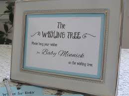 wishing tree cards tree card for baby shower 5x7 sign