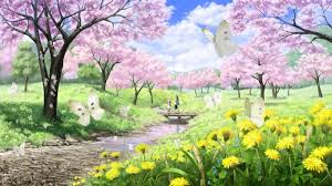 relaxing anime piano music spring flowers youtube